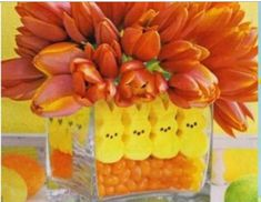 Easter decorating with peeps!