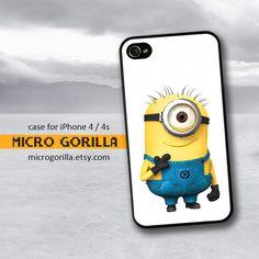 Minion Despicable Me iPhone Case 4 4s iPhone Case by MicroGorilla, $12.50