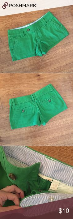 Green Red Camel Shorts These have been worn a few times, still in great condition. These tags been cut out. They are size 3. The pictures match the color they are in person. Red Camel Shorts