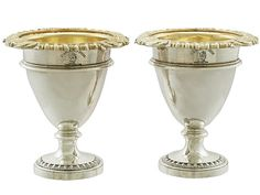 Pair of Sterling Silver Egg Cups by Paul Storr - Antique George IV