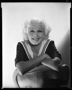 Jean Harlow camera negative from The Girl from Missouri by George Hurrell.