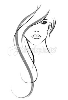 woman face / hair illustration
