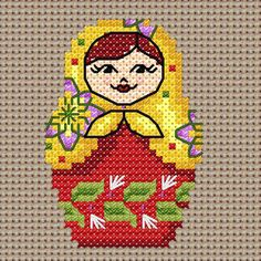 Maria Diaz Designs: Exclusive cross stitch designs, cross stitch charts & cross stitch books.  Free chart March 2015 only
