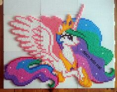 DECO.KDO.NAT: Perles hama: princesse célestia de my little pony