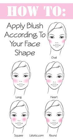 How to apply blush according to face shape/Blush para cada formato de rosto