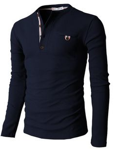 Henley Cotton Shirt in Navy – Sweater Weather Co.