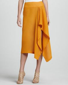 Looks a lot like the old Sewing Workshop Lotus Skirt pattern.  Linen+Sarong+Skirt,+Amber+by+Michael+Kors+at+Neiman+Marcus.
