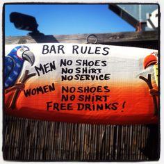 beach bar rules