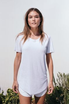 4489dc303d763 White Elevated Towel Tee