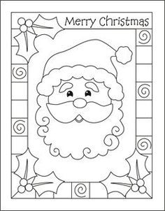 christmas coloring cards for kids printable free coloring cards santa christmas coloring pages