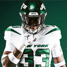 "9513f9b86 UNISWAG on Instagram  ""Which of the  nyjets new unis is the best  Spotlight  White Gotham Green Stealth Black  uniswag"""