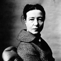 IrvingPenn / Simone De Beauvoir 1957