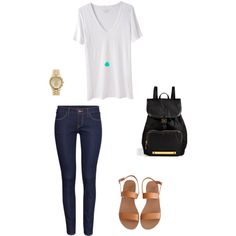 """Casual back to school look."" by elismill on Polyvore"