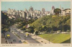 Vista parcial do centro da cidade a partir da avenida 9 de Julho.