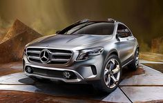Concept #Mercedes 2014 GLA SUV in Shanghai Auto Show