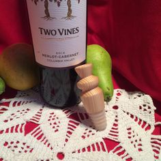 Wooden Pine Bottle Stopper cork silicone oil by MrCsWoodcrafts