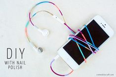 DIY: Nail Polish Colored Headphones - Crème de la Craft