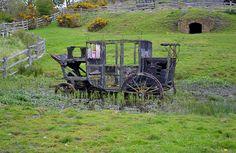 abandoned wagon  beamish museum