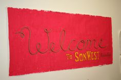 My rope welcome sign for SonWest Roundup western VBS