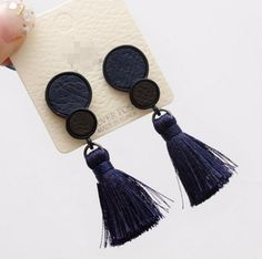 Cheap long tassel earrings, Buy Quality tassel earrings directly from China earrings for Suppliers: 2016 Korean Fashion New Accessories Personality Long Tassel Earrings Temperament Leather Circle Earrings For Women Gold Bar Earrings, Long Tassel Earrings, Tiny Stud Earrings, Simple Earrings, Women's Earrings, Jewelry For Her, Heart Jewelry, Present For Girlfriend, Biscuit