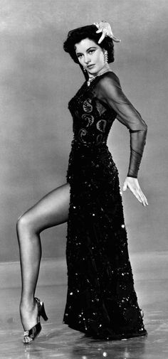 Fabulous American actress and dancer Cyd Charisse - Overcoming Polio as a child, she later danced with Fred Astaire and Gene Kelly in Singin' in the Rain