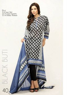 Orient Textiles Black & White Lawn Dresses 2013 For Women