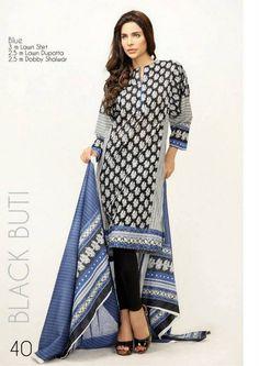 Orient Textiles Black & White Lawn Dresses 2013 For Women