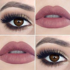 """makeup on Instagram """"Weekend makeup for my brown eyed girls (will l ❤ liked on Polyvore featuring makeup"""