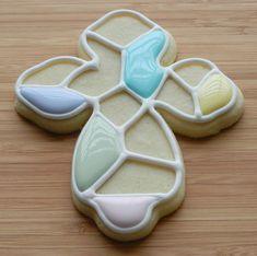 Tutorial on making mosaic sugar cookies