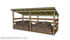 Large Firewood Shed Plans | MyOutdoorPlans | Free Woodworking Plans and Projects, DIY Shed, Wooden Playhouse, Pergola, Bbq