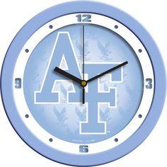 NCAA Air Force Falcons Baby Blue Wall Clock