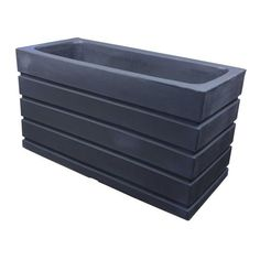"Ellis Large Resin Planters - 36""x10""x12"" / Mocha - Planter Boxes - Crescent Garden - Pots Planters & More - 1"