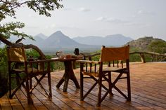 View from your room at Sarara, in Northern Kenya.