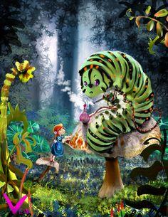 Alice in Wonderland, children's book illustration