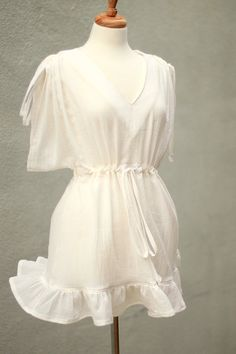 Mini Caftan  Kimono Sleeve Beach Cover Up  by mademoisellemermaid, $68.00