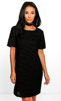 69862b013a14 boohoo Ruffle Cap Sleeve Shift Dress - black CZZ96780 Amabel Ruffle Cap  Sleeve Shift Dress -