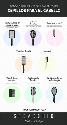 CEPILLOS PARA EL CABELLO        ♡_^ Beauty Make Up, My Beauty, Beauty Skin, Beauty Hacks, Hair Beauty, Makeup Tips, Eye Makeup, Hair Makeup, Makeup Hairstyle
