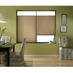 Cordless Top Down Bottom Up Cellular Shades in Antique Linen (44 to 44.5 Inches Wide) (44W x 62H Antique Linen), Brown (Polyester)