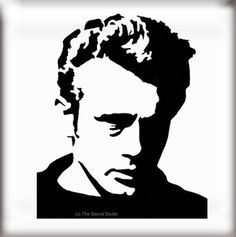 Stencils, James Dean stencil, reusable stencil, not a vinyl sticker/ decal