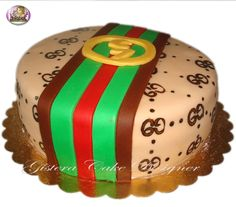 Cake Gucci Dessert For Dinner, Donuts, Christmas Bulbs, Berries, Strawberry, Gucci, Cakes, Baking, Fruit
