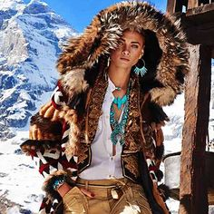 Vogue Japan out now ❤️it wearing Jessie western squash blossom necklace and eagle necklace and Navajo cuff and earrings all from www.jessiewestern.com #jessiewestern.com#vogue#voguejapan#turquoise# turquoisenecklace #ski clothes