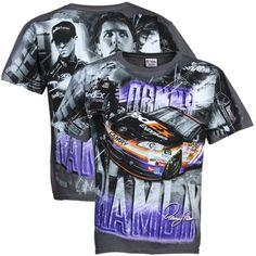 NASCAR Chase Authentics Denny Hamlin Gray Tonal Premium T-Shirt - Gray