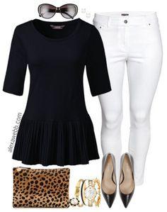 Plus Size Peplum Top Outfit - Plus Size Summer Outfit Idea - Plus Size Fashion for Women - alexawebb.com #alexawebb
