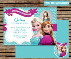 Frozen Party, Frozen Birthday, Frozen Backdrop, Disney Frozen Invitations, Printing Services, Birthday Invitations, Announcement, Rsvp, Backdrops