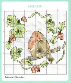 December Cross Stitch Chart