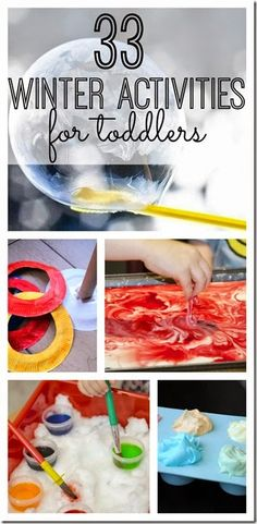 If you're looking for some great winter boredom busters for your little ones, you will love these 33 winter activities for toddlers! Your kids won't be bored, and you'll be loving winter again. Winter Activities For Toddlers, Craft Activities For Kids, Infant Activities, Projects For Kids, Crafts For Kids, Indoor Toddler Activities, 3 Year Old Activities, Snow Activities, Preschool Winter
