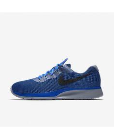 hot sales 7ecb5 f9183 Nike Tanjun Racer Blue Jay Wolf Grey Black 921669-401 Mens Nike Air, Nike
