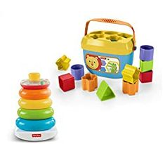 Fisher-Price Rock-a-stack and Baby's First Blocks Bundle Little ones will have a blast with this exciting gift set, which features two iconic Fisher Price toys! Little hands will love grasping, holding, shak. Toddler Toys, Kids Toys, Children's Toys, Storage Buckets, Baby Bats, Fisher Price Toys, Stacking Toys, Rocker, Thing 1