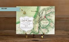 Scriptura - Save the Date Invitations. We like it, but it doesn't list Gretna, LA so we'd prefer a map that did.