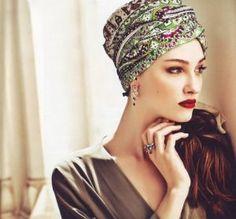 Paisley head scarf photo